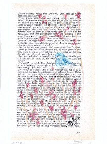Little bluebird - kunstprint (A5)