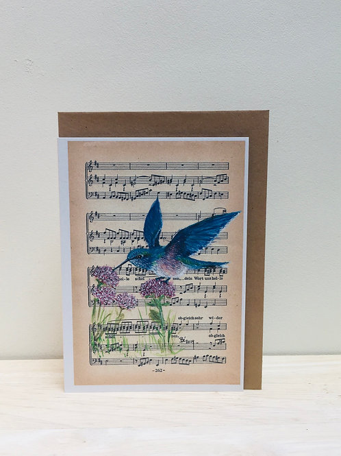 Wenskaart kolibrie