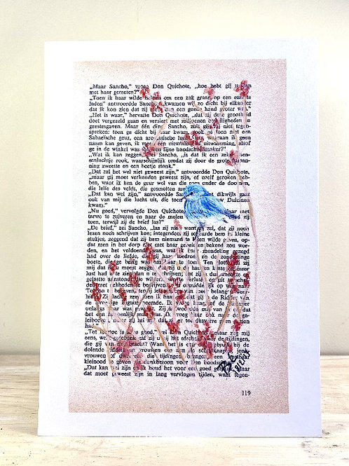 Little bluebird -  fine art print (A5)