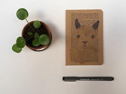Notitieschrift pocketformaat Lama