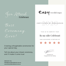 Easy Wedding 2020 Certificate of Excelle
