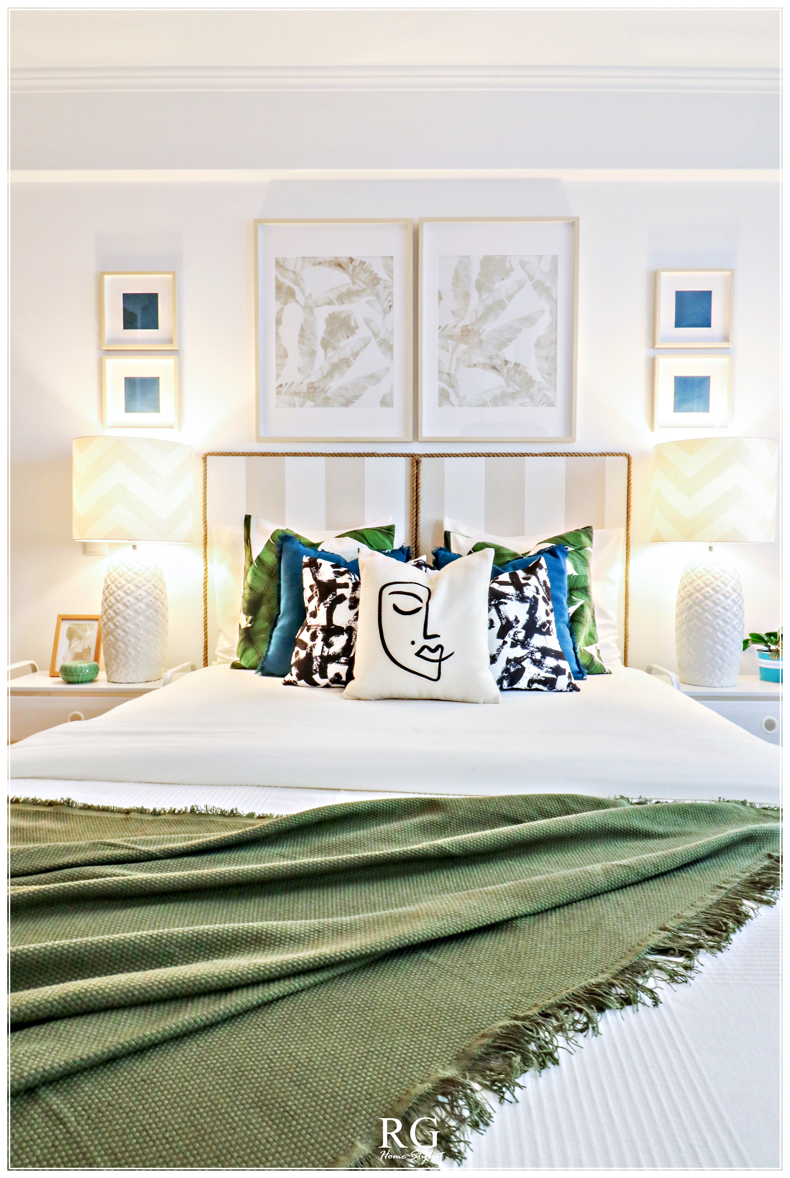Projeto-The Green & Beige bedroom