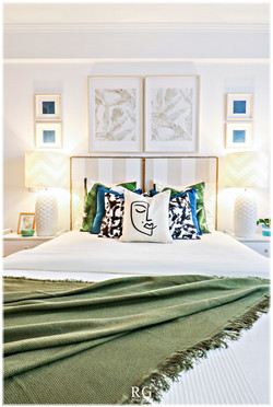 Projeto-The Green & Beige bedroom