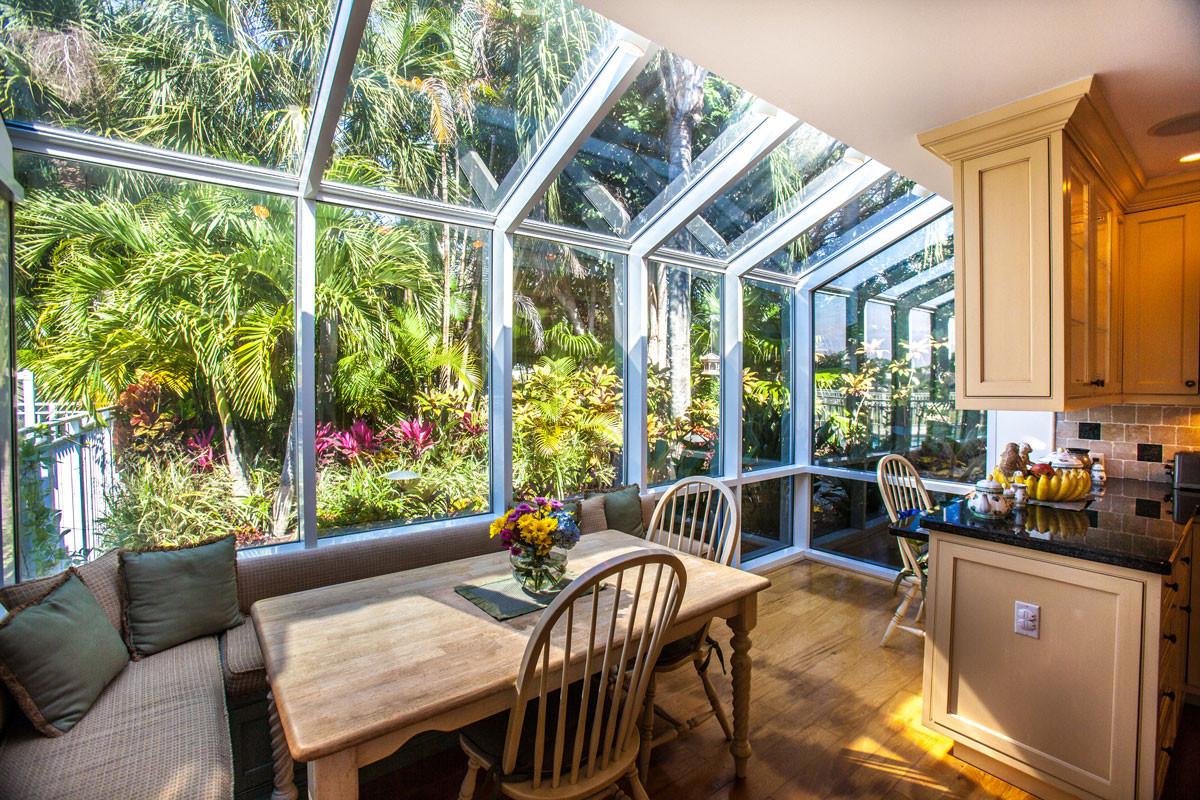 kitchen with big windows