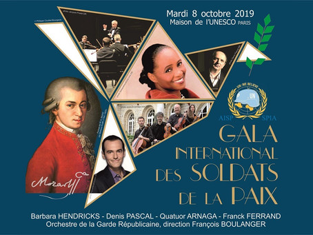 Le 8 octobre 2019 : Gala International à l'Unesco