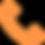icone telephone orange