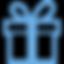 icone cadeau bleu