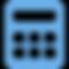 icone calculatrice bleu