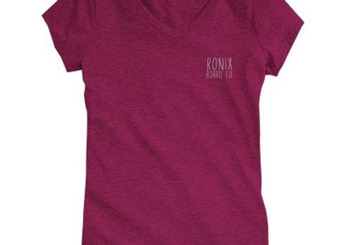 RONIX - WOMEN'S SIGNATURE V-NECK T-SHIRT