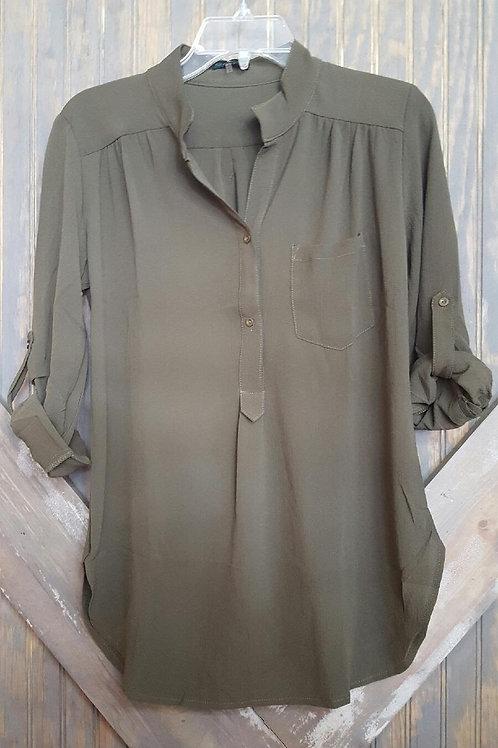 Green Sheer Pocket Shirt