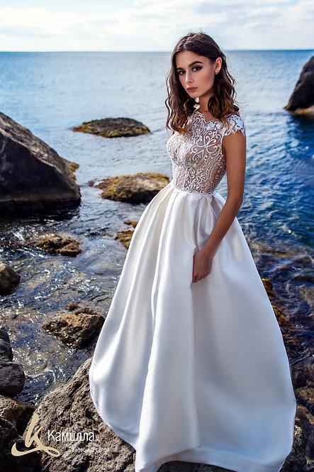атласное свадебное платье Кайли