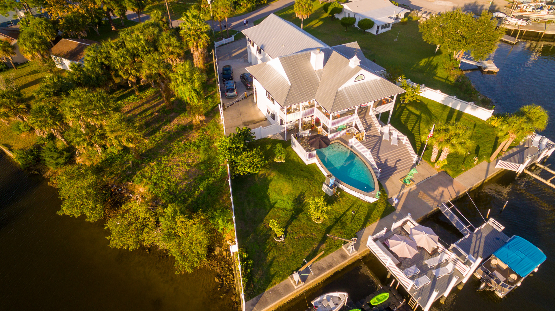 The Captains House Aerial View
