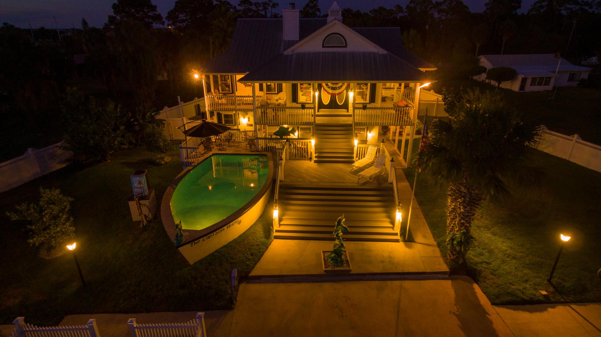 The Captains House at Dusk Hernando Beach, FL