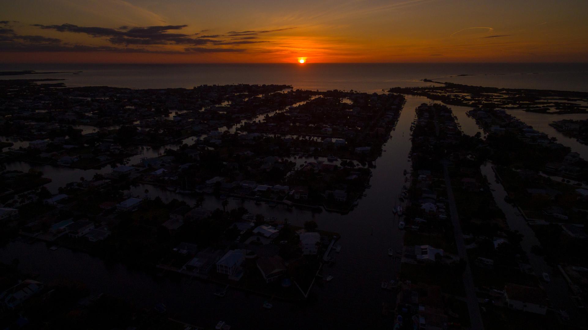 Sunset on Hernando Beach, Florida