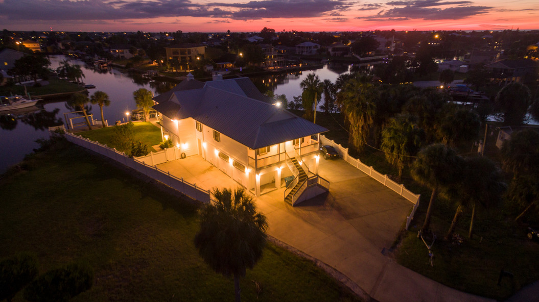The Captains House Aerial Sunset