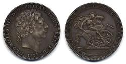 George III 1818 St George Slaying the Dragon Crown