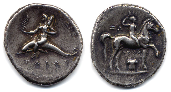 Greek Tarus Didrachma