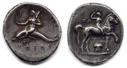 Greek Tarus Didrachma