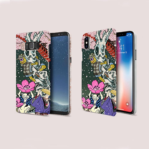 Street style Japanese Ukiyoe Phone case / iPhone, Galaxy, Google Pixel