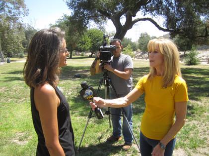 Naomi Call talking to reporter Lori Corbin from ABC