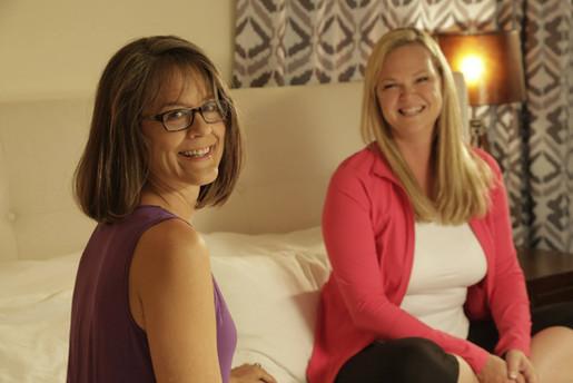 Noami Call and Kristen White taping Mandala Television Show