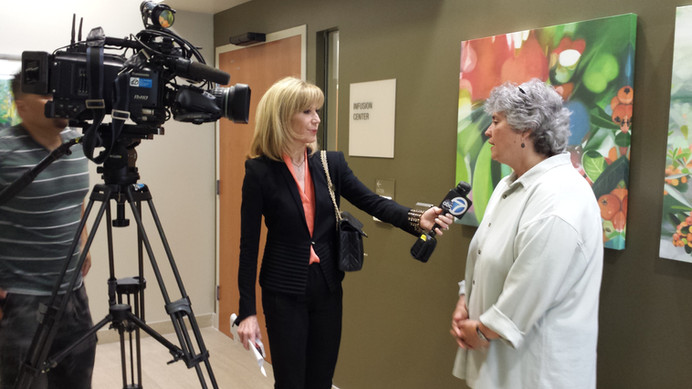 Gayle McDonald interviewed by ABC for Medicine Hands