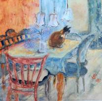 Pirjo Selenius, Kissa pöydällä
