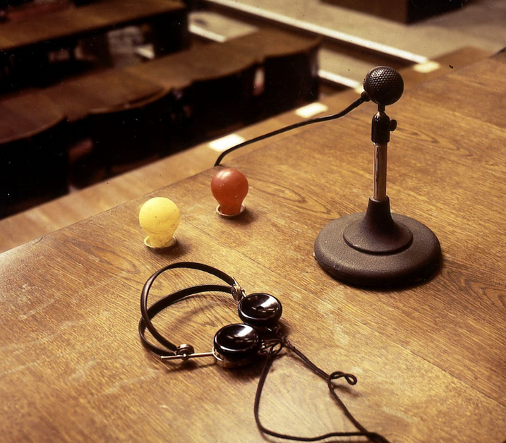 Simultaneous interpreting equipment, The Nuremberg Trial, 1945