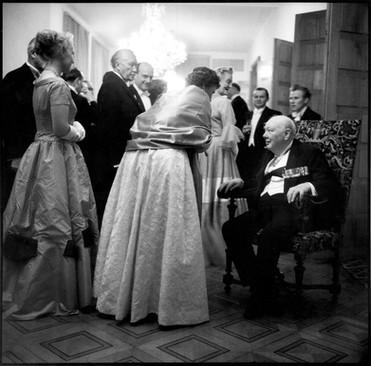 Konrad Adenauer receives Winston Churchill, 1956