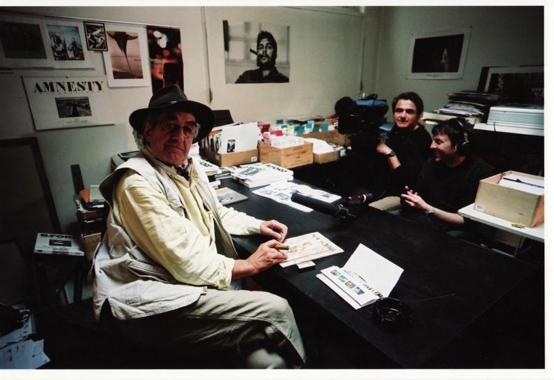 René Burri, Reiner Holzemer and Frank Hützler