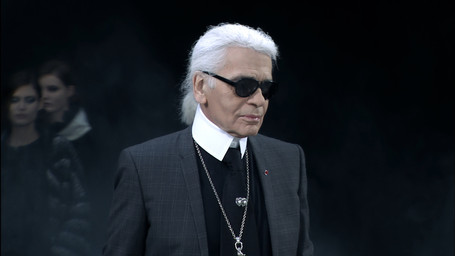 Karl Lagerfeld in Paris, 2011
