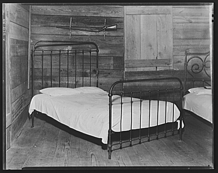 Walker Evans | Part of the bedroom of Floyd Burroughs' cabin. Hale County, Alabama