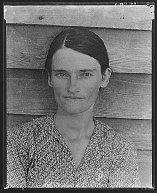 Walker Evans   Allie Mae Burroughs, wife of cotton sharecropper. Hale County, Alabama