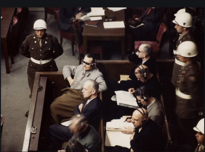 The defendants, The Nuremberg Trial, 1945