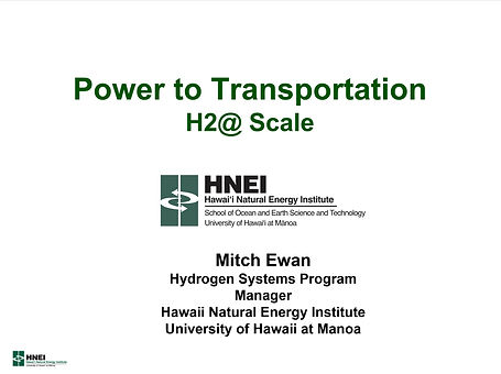 Power to Transportation H2@ Scale no dat