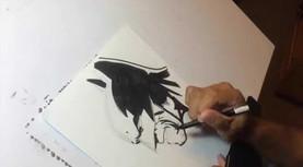 Batman Speed Sketch (Con Style)