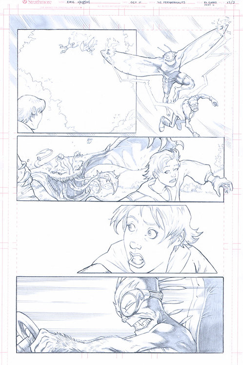 Original Pencils- Perhapanauts DDU #4, pg 8