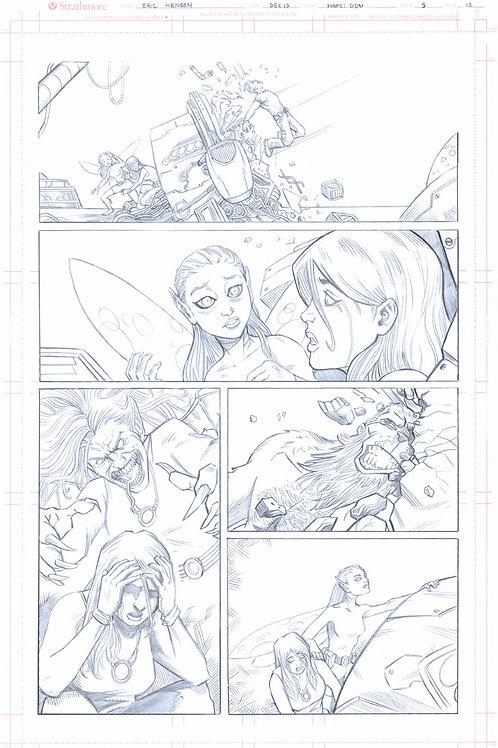 Original Pencils- Perhapanauts DDU #5, pg 13