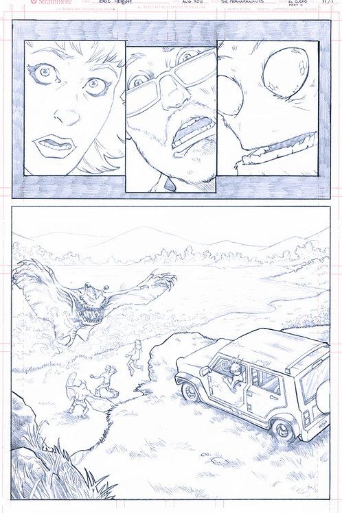 Original Pencils- Perhapanauts DDU #4, pg 6