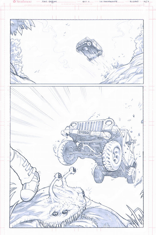 Original Pencils- Perhapanauts DDU #4, pg 9