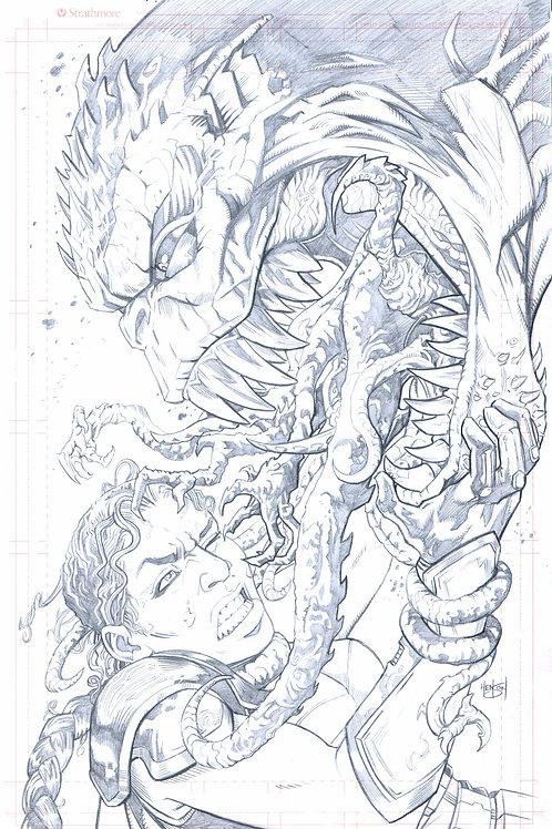 Original Cover Pencils- EDEN #2 (Alterna Comics)
