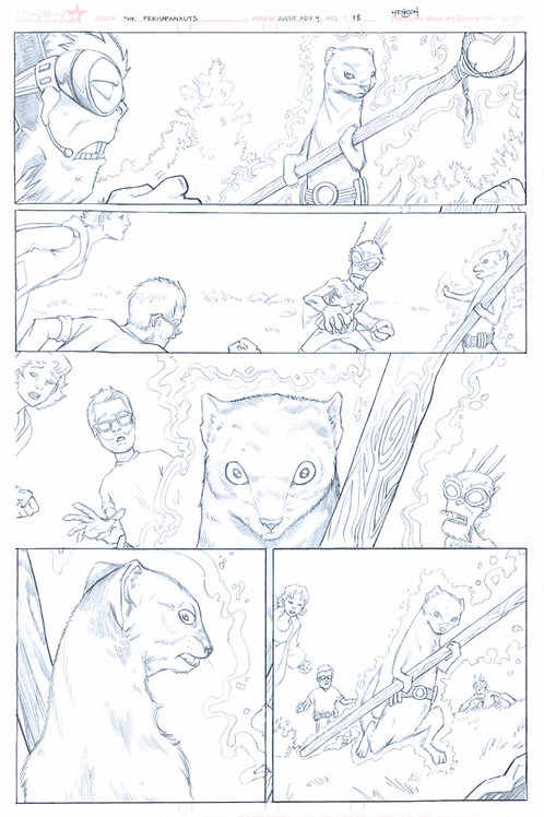 Original Pencils- Perhapanauts DDU #4, pg 18