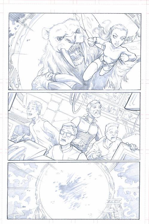 Original Pencils- Perhapanauts DDU #5, pg 2