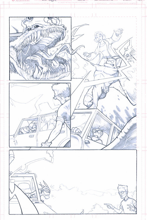 Original Pencils- Perhapanauts DDU #4, pg 13