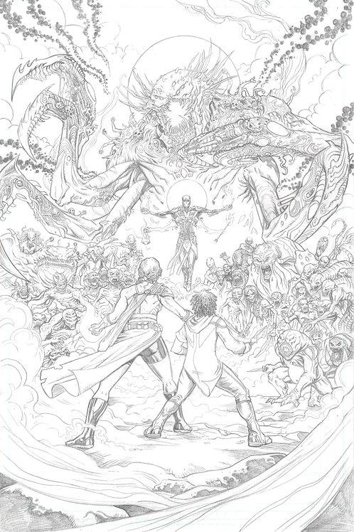 Original Cover Pencils- EDEN #4 (Alterna Comics)