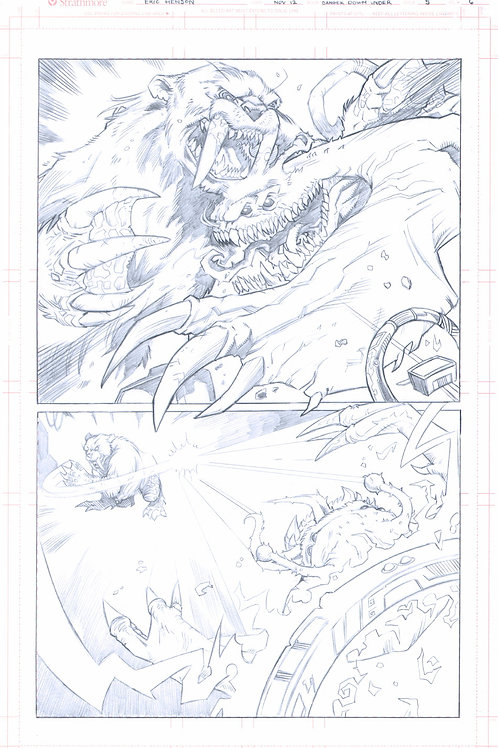 Original Pencils- Perhapanauts DDU #5, pg 6