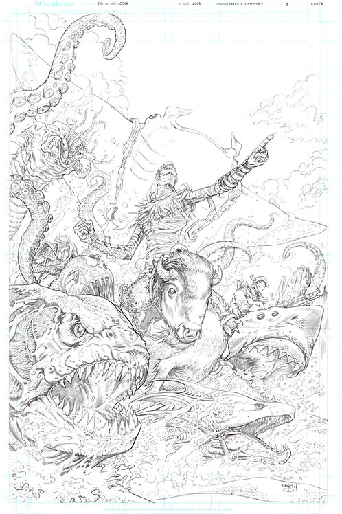 Original Cover Pencils- Undiscovered Country #1 (Image Comics)