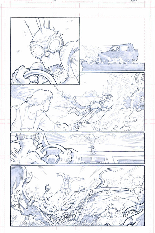 Original Pencils- Perhapanauts DDU #4, pg 7