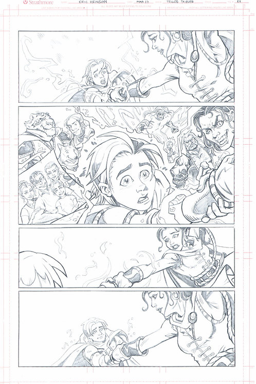 Original Pencils- The Mike Wieringo TELLOS Tribute: Vol 2, pg 74