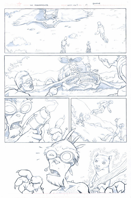 Original Pencils- Perhapanauts DDU #4, pg 17